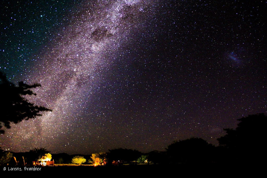 camping under the milkyway