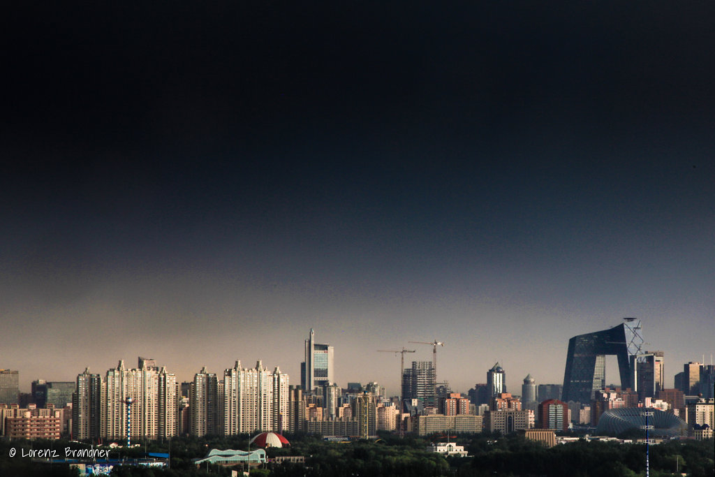 storm clearing over beijing